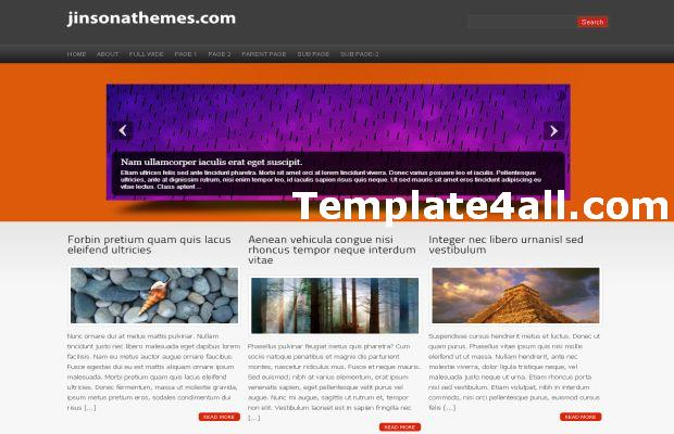 Portfolio Orange Grey Wordpress Theme Template