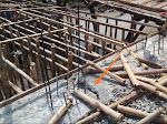 Pengerjaan Proyek Pembangunan Jembatan Dusun Krajan Barat Manggungjaya di Duga Asal-Asalan