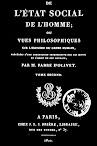 De L'etat Social de l'Homme, Tome II (1822,in French)