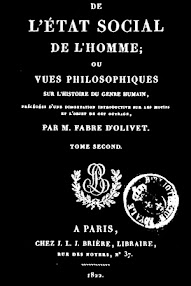 Cover of Fabre d'Olivet's Book De L'etat Social de l'Homme, Tome II (1822,in French)