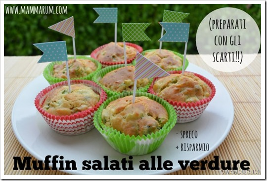 Muffin salati alle verdure scarti