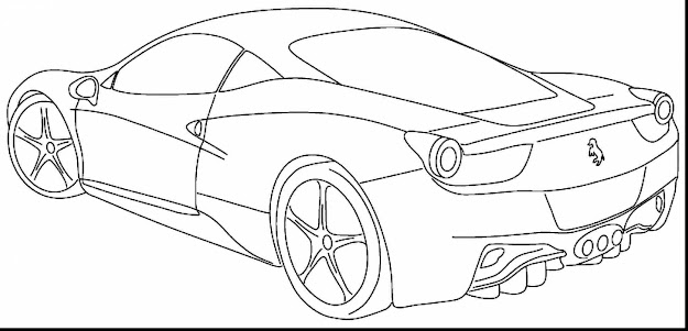 Magnificent Sports Car Coloring Pages Printable With