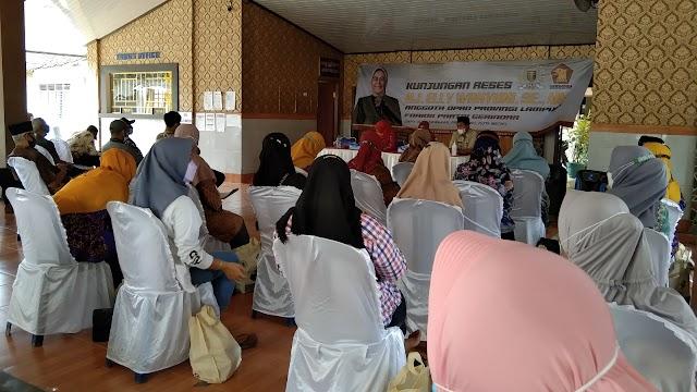 Digelar Tanpa Prokes Ketat, Reses Anggota DPRD Provinsi Lampung