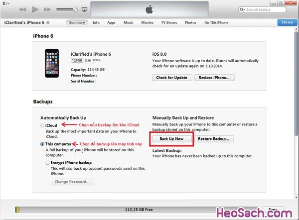 Hình 2 - Hướng dẫn khôi phục, Restore iPhone và iPhone 6 Plus