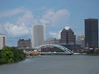 Downtown Rochester as seen from the Mary Jemison