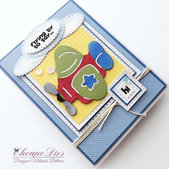 airplane angled card