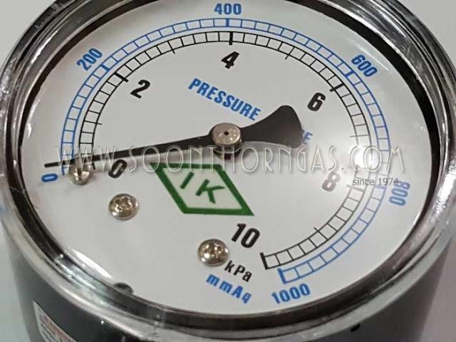 เกจ์วัดแรงดันแก๊ส แรงดันต่ำ IK  0-1000 mmAq