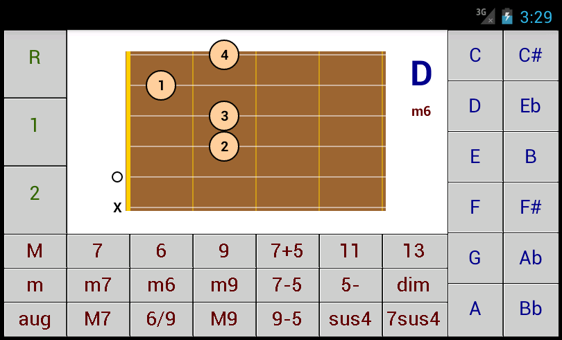 DG Guitalele / Requinto Chords - DG Android Applications