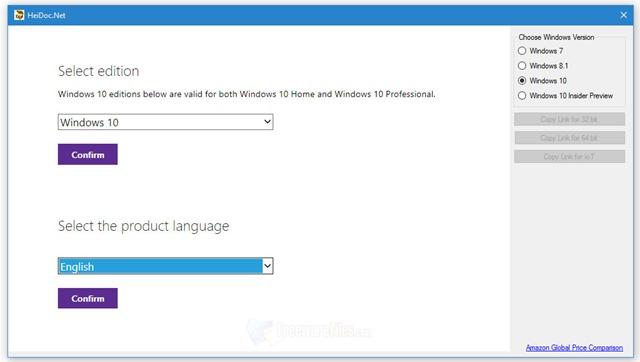 برنامج تحميل إسطوانات ويندوز الأصلية كاملة Microsoft Windows ISO Download Tool 4.10