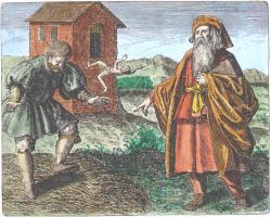 Morienus From Maier Symbola Aurea Mensae Franckfurt 1617, Alchemical And Hermetic Emblems 1