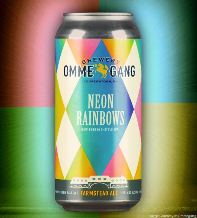 Brewery Ommegang Unveils Canning Line--First Release: Neon Rainbows NEIPA