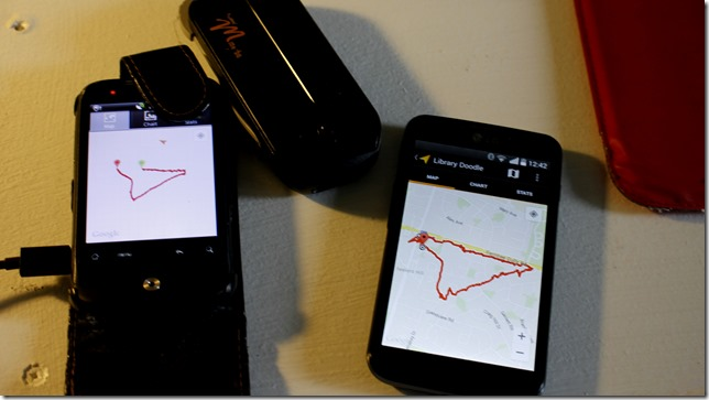 Comparing My Tracks phones