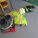 de brandweer op bezoek bij onze kleuters