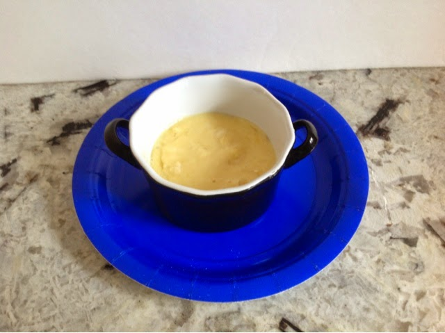 black ramekin with batter