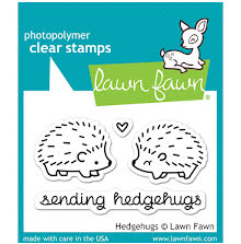 Lawn Fawn Clear Stamps 3X2 - Hedgehugs
