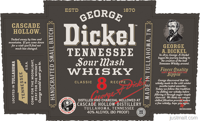 George Dickel Tennessee Sour Mash Whiskey Classic 8 Recipe