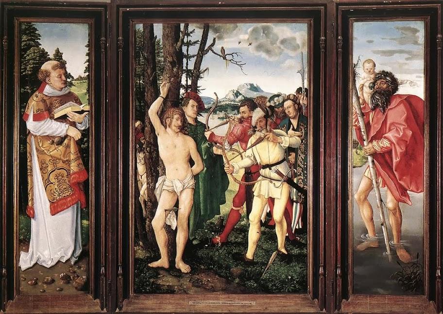 Hans Baldung - St Sebastian Altarpiece