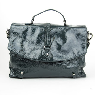Theory Patent Leather Green Messenger Bag