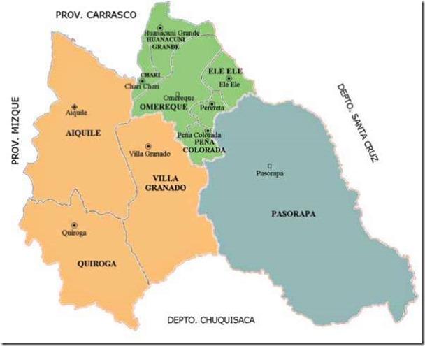 Provincia Campero (1899): Departamento de Cochabamba (Bolivia)