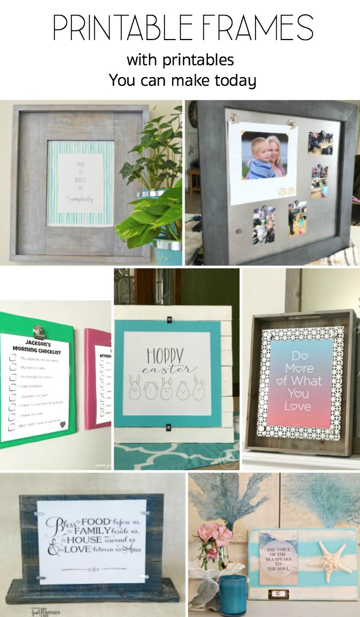 DIY printable frames you can make power tool challenge team