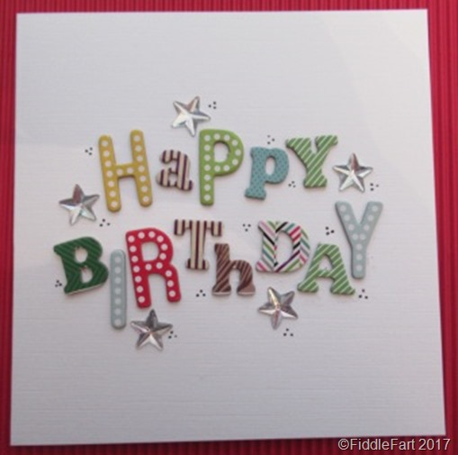 Simple Random Letter Birthday Card