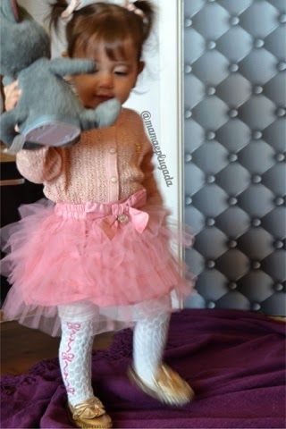 Moda infantil Saia Pompom