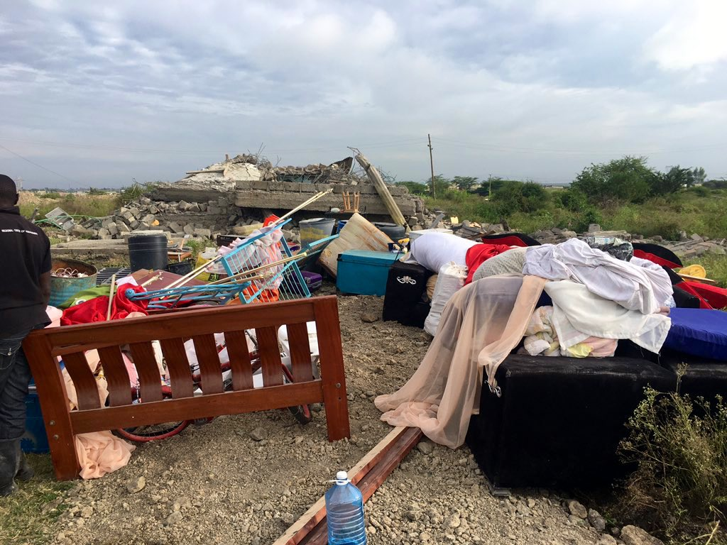 Ruai land disputes evictions of Friday photos and videos