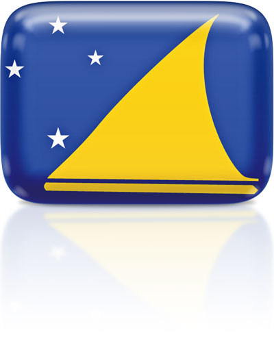 Tokelauan flag clipart rectangular