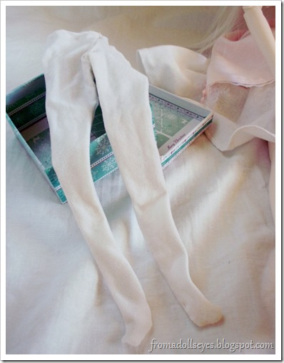 White Tights Made For a Ball Jointed Doll