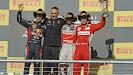 2012 US F1 GP podium: 1. Hamilton, 2. Vettel, 3. Alonso