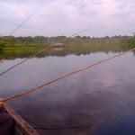 Sunset fishing for piranha