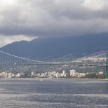 Lions Gate bridge in Vancouver in Vancouver, British Columbia, Canada