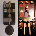 2 Amateur ham radio Morse code CW practice keys icon