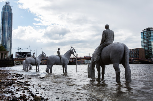 The rising tide. Sculptor Jason deCaires Taylor's latest underwater sculpture, in London