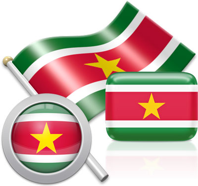 Surinamese flag icons pictures collection
