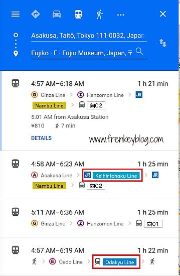 Tokyo Subway Google Maps
