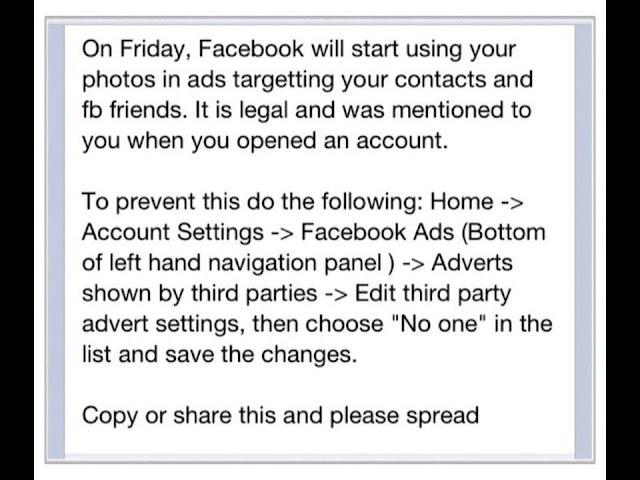 η ανακοίνωση που κυκλοφορεί για τις διαφημίσεις στο facebook