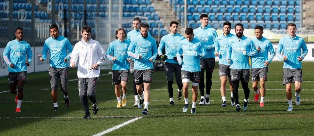 Último entrenamiento previo al Sevilla