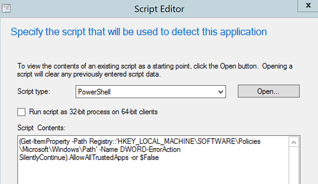 How to deploy Registry keys via SCCM Application Deployment with