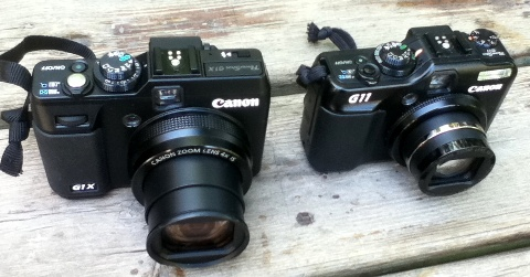 Canon G1x and G11 compared