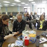 Spotkanie medyczne z Dr. Elizabeth Mikrut przy kawie i pączkach. Zdjęcia B. Kołodyński - SDC13566.JPG