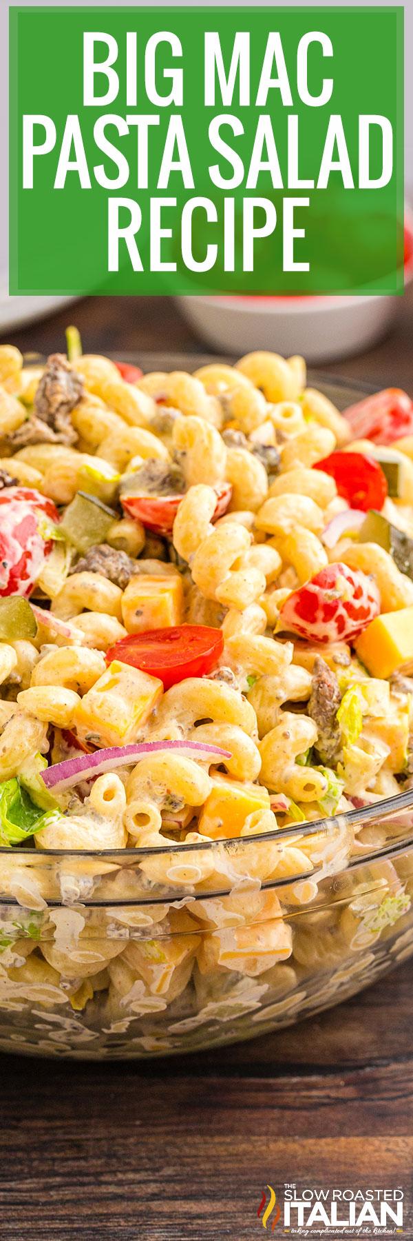 pasta salad recipe close up