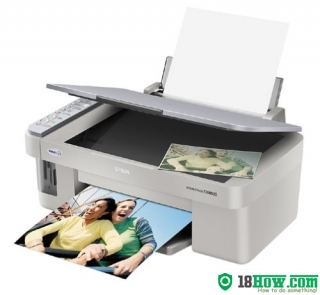 How to reset flashing lights for Epson CX4600 printer