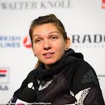 STUTTGART, GERMANY - APRIL 20 : Simona Halep talks to the media at the 2016 Porsche Tennis Grand Prix