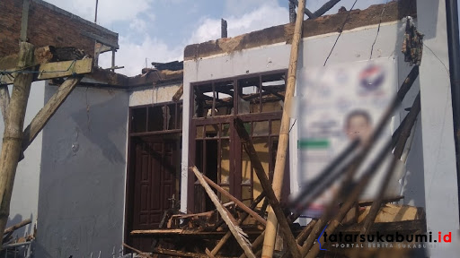 Rumah Caleg di Sukabumi Terbakar