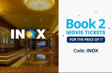 Paytm – Buy 1 Get 1 Movie Ticket in INOX Cinemas