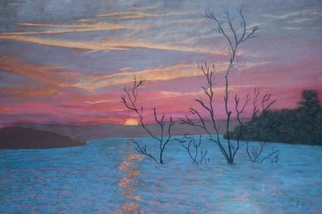 """Confetti Sunset"" by Artist Juliette Travous."