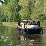 Canal du Loing : péniche