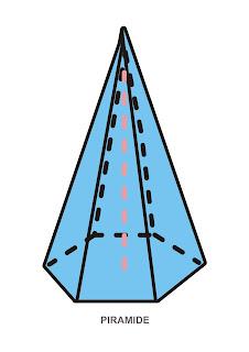 Dibujo de la pirámide. Lámina para imprimir