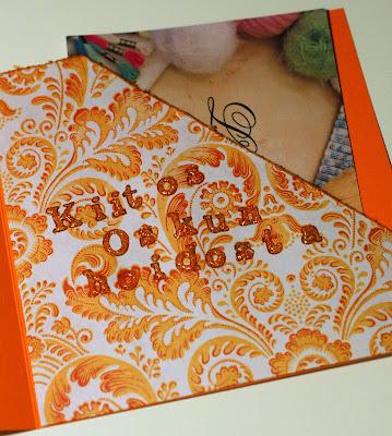 Oranssin kiitoskortin sisusta